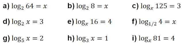definicion de logaritmo ejercicios resueltos