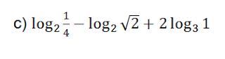 definicion de logaritmo ejercicios