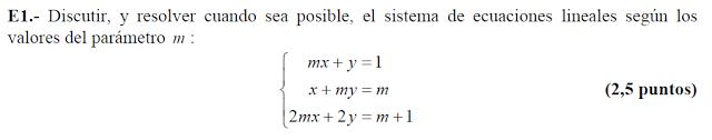 sistemas de ecuaciones con parámetros