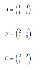 inversa de una matriz 2x2