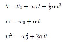 movimiento circular uniformemente acelerado MCUA formulas