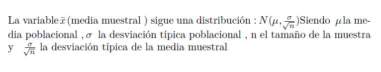Distribución de la media muestral