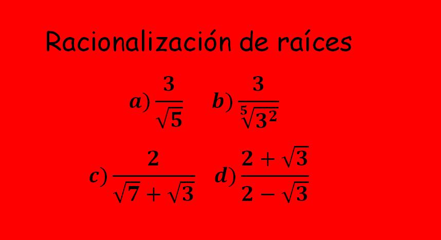 racionalizacion de radicales