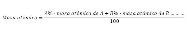 isotopo masa atomica