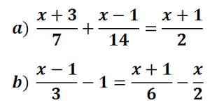 Ecuaciones con denominadores ejercicios