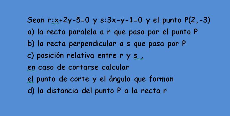 ecuaciones de la recta en el plano pdf