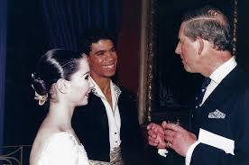 Tamara Rojo, Carlos Acosta y el príncipe Charles. Don Quijote.