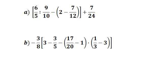 operaciones combinadas fracciones